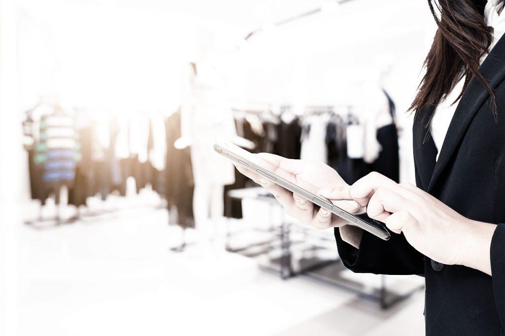 Digitales Arbeiten Mode-Branche
